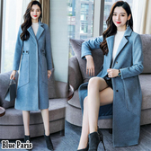藍色巴黎 ■ 秋冬時尚加厚長版羊毛呢外套 西裝外套 《2色》【28851】
