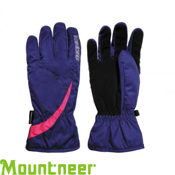 【Mountneer 山林 Primaloft防水手套《紫/粉紅》】12G02/防風/透氣快乾/保暖手套★滿額送