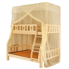 上下床蚊帳子母床上下鋪1.5米一體1.2米實木兒童床雙層床高低蚊帳 夢幻小鎮