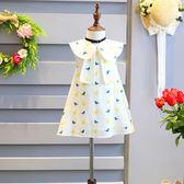 女童連身裙兒童娃娃衫公主裙小鳥圖案寶寶裙子
