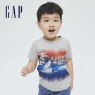 Gap男幼童 布萊納系列 趣味動物印花純棉T恤 701448-灰色