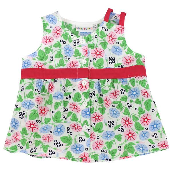 【愛的世界】純棉牽牛花洋裝無袖上衣/1~3歲-台灣製- ★春夏上著