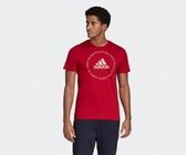 Adidas MUST HAVES EMBLEM TEE 男款紅色短袖休閒上衣-NO.ED7274