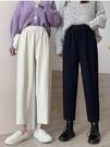 褲子女秋冬季2020新款奶奶褲寬鬆蘿卜休閒褲直筒褲顯瘦百搭寬管褲