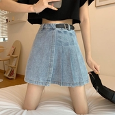 短裙不規則百褶裙