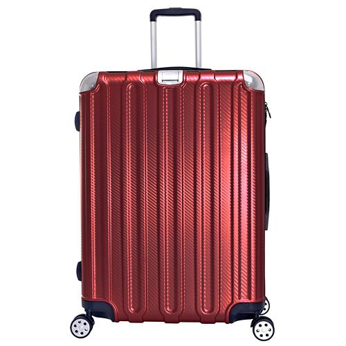 《高仕皮包》【免運費】LEAD MING微風輕量拉鍊旅行箱.24吋.紅色LG037-24-RED