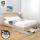 【多瓦娜】MIT利拉工業日式5尺二件式房間組(三分床底+木面床頭)-二色-036