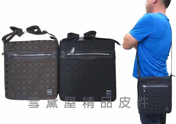 ~雪黛屋~STATE-POLO 肩側包可8吋電腦底部加大容量隨身物品可肩背可斜側背防水尼龍布+皮革014-1609