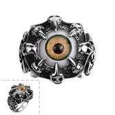 鈦鋼戒指 眼睛-暗黑個性歐美龐克風生日情人節禮物男飾品73le36[時尚巴黎]