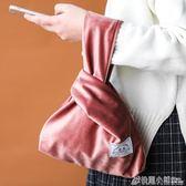 川島屋 ins北歐天鵝絨手提袋手腕袋旅行收納袋手機鑰匙手提包 格蘭小舖