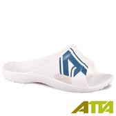【333家居鞋館】足底均壓 潮感個性足弓拖鞋-白藍色