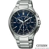 CITIZEN光動能電波錶 萬年曆鈦金屬 手錶(CB5040-80L) 現貨