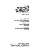 二手書博民逛書店 《Unit Operations of Chemical Engineering》 R2Y ISBN:0070448280│McGraw-Hill College