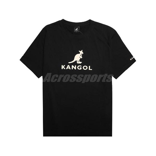 Kangol 短袖T恤 Casual Tee 黑 米白 男款 袋鼠 短T 運動休閒 【ACS】 6021100120