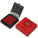 【奇奇文具】萬年紅  95×95mm 海棉 高纖 小白鐵印泥盒