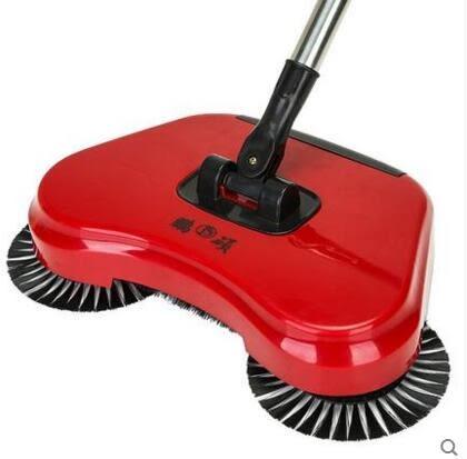 鵬碩手推式掃地機家用不插電吸塵器懶人 主圖款【紅色】