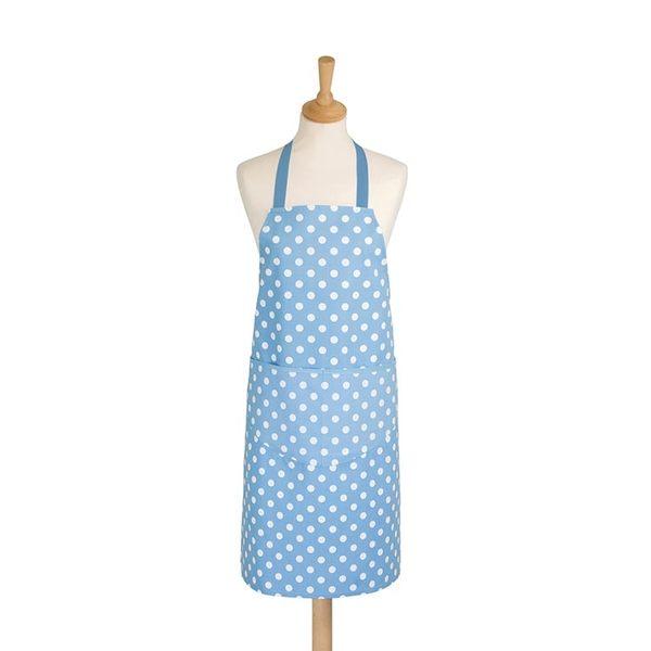 英國dexam 連身圍裙-可愛點點_水藍/粉紅(成人)