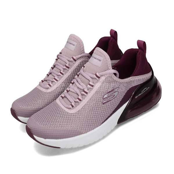 Skechers 慢跑鞋 Skech-Air Stratus-Sparkling Wind 紫 白 女鞋 運動鞋 【PUMP306】 13276MVE