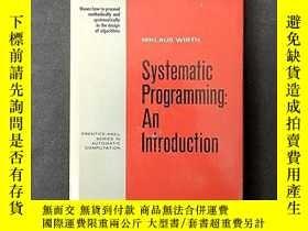 二手書博民逛書店Systematic罕見ProgrammingY255562 Niklaus Wirth Prentice H