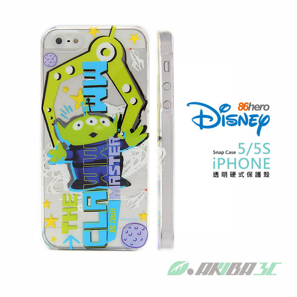 iPhone SE/5/5S 迪士尼90週年 86hero 三眼怪 透明硬式保護殼