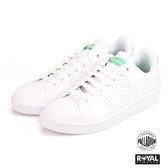 Adidas 新竹皇家 CLOUDFOAM ADVANTAGE CLEAN 白色 皮質  記憶鞋墊 休閒鞋 男女款 NO.A9944