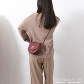 包包女包復古簡約斜背包馬鞍包秋冬新款時尚百搭ins單肩小包ATF 艾瑞斯生活居家