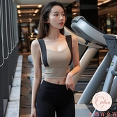 防震運動背心外穿女聚攏跑步定型健身內衣彈力瑜伽服文胸bra【大碼百分百】