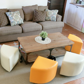 沙發 穿鞋椅凳 【YCN042】扇形拼接簡約沙發凳 Amos 台灣製