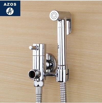 德國AZOS 增壓手持花灑冷熱婦洗器噴頭噴槍淋浴 馬桶閥龍頭套裝【C款套裝(單冷水)】
