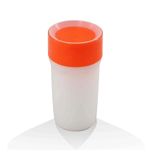 【英國litecup】發光不灑杯 全家人的夜燈水杯 豔麗橘