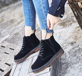 馬丁靴     馬丁靴女英倫風學生加絨韓版短筒靴子百搭小短靴    瑪麗蘇