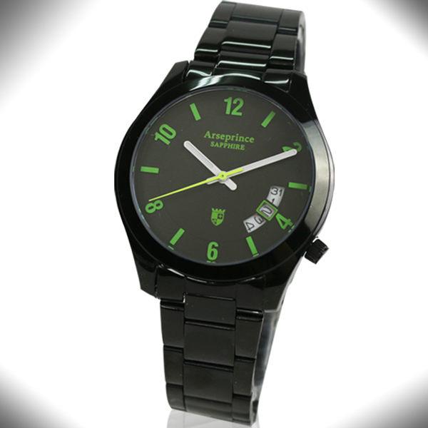 【Arseprince】義式幻影時尚中性錶-綠色