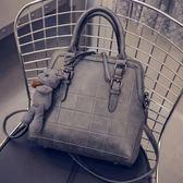 手提包-時尚簡約軟面菱格肩背女貝殼包2款6色72an1[巴黎精品]