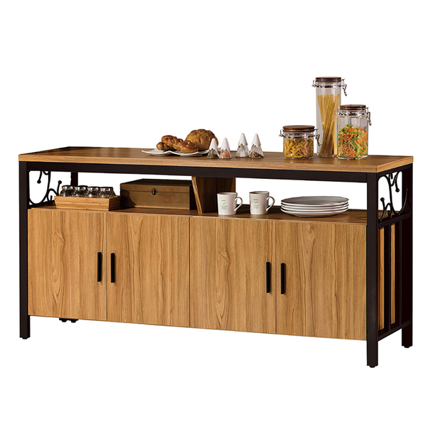 鋼克里5.3尺餐櫃/文件收納櫃(20JS1/618-5)/H&D東稻家居