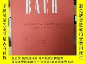 二手書博民逛書店JOHANN罕見SEBASTIAN BACH :SONTY A PARTITY · SONATES ET PART