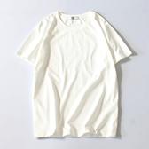 短袖T恤男日繫純色小清新百搭薄款上衣青年半袖純棉體恤 新年禮物