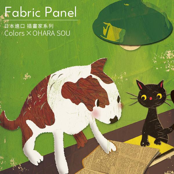 時尚無框畫 油畫 複製畫 木框 畫布 掛畫 居家裝飾 壁飾【狗狗貓貓大冒險】