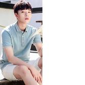 2018夏季新款男士短袖t恤修身翻領POLO衫潮流韓版男裝半袖上衣