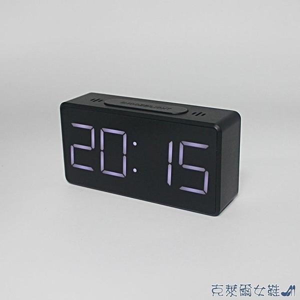 熱賣跨境供應簡約電子鐘LED鬧鐘床頭鐘學生鬧鐘鏡面鐘8039 快速出貨