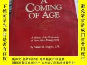 二手書博民逛書店A罕見COMING OF AGEY28596