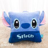 【迪士尼立體大耳方型抱枕 史迪奇】Norns 12吋 Q版大臉 星際寶貝 腰靠枕靠墊 午安枕 Disney正版授權