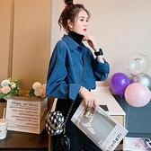 假兩件襯衫 假兩件高領襯衫女長袖秋冬復古港味風外穿設計感小眾磨毛疊穿上衣 韓國時尚週 免運