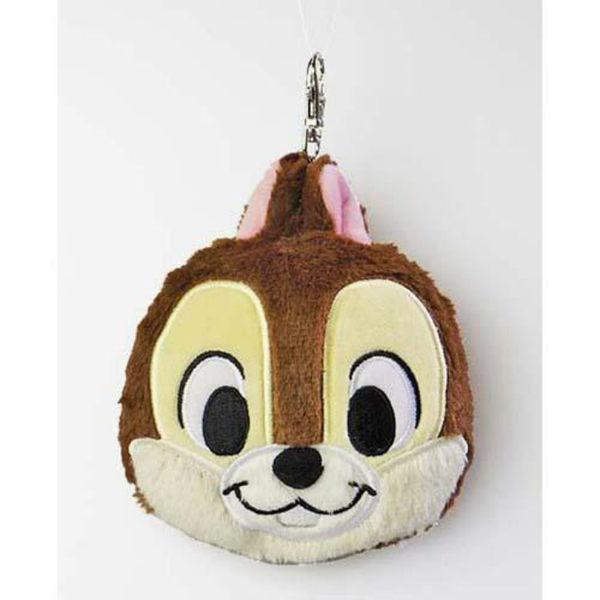 迪士尼 大頭造型伸縮拉線票卡包 悠遊卡包 奇奇款 Disney 日本直送 該該貝比日本精品 ☆