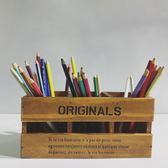 超大容量辦公桌面收納盒創意時尚正韓小清新木製筆筒學生多功能型