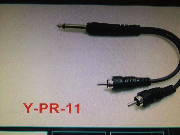 凱傑樂器 Y-PR-11 1/4 TS TO DUAL RCA 轉接頭