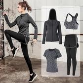 瑜伽服 瑜伽服跑步健身房運動套裝女寬鬆大碼網紅顯瘦時尚速幹衣 【免運86折】