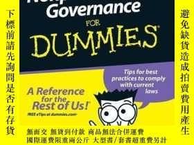二手書博民逛書店Nonprofit罕見Law and Governance For DummiesY410016 Jill G
