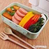 便當盒 麥桔梗單層微波爐飯盒日式上班水果盒便當盒可愛透明學生成 Cocoa