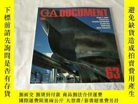 二手書博民逛書店GA罕見Document 63(英、日、雙語)Y8204 世界建築 世界建築