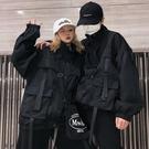 2020秋季新款潮帥氣港風暗黑系街頭寬鬆bf情侶夾克工裝外套男女酷  店慶降價